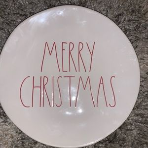Rae Dunn Merry Christmas Plate